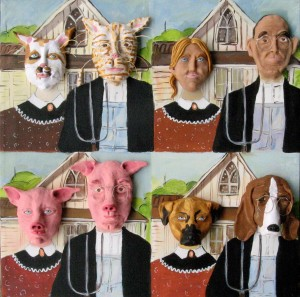 Art History #4: Grant Wood's American Gothic -- sort of....
