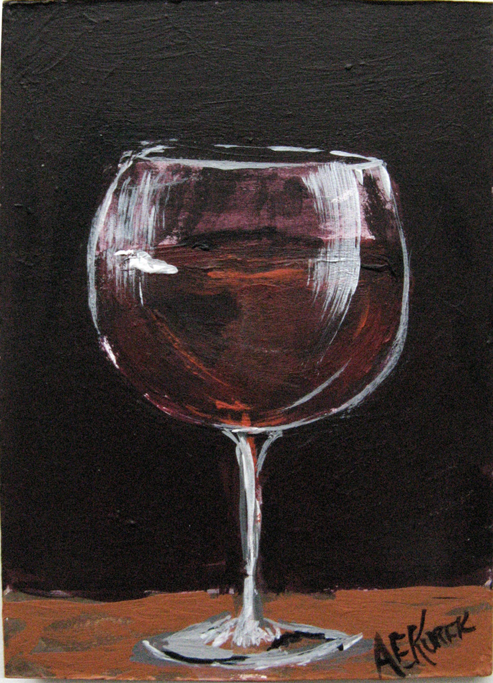 Wine painting focusing on the fine art of fun art for Type of paint to use on wine glasses
