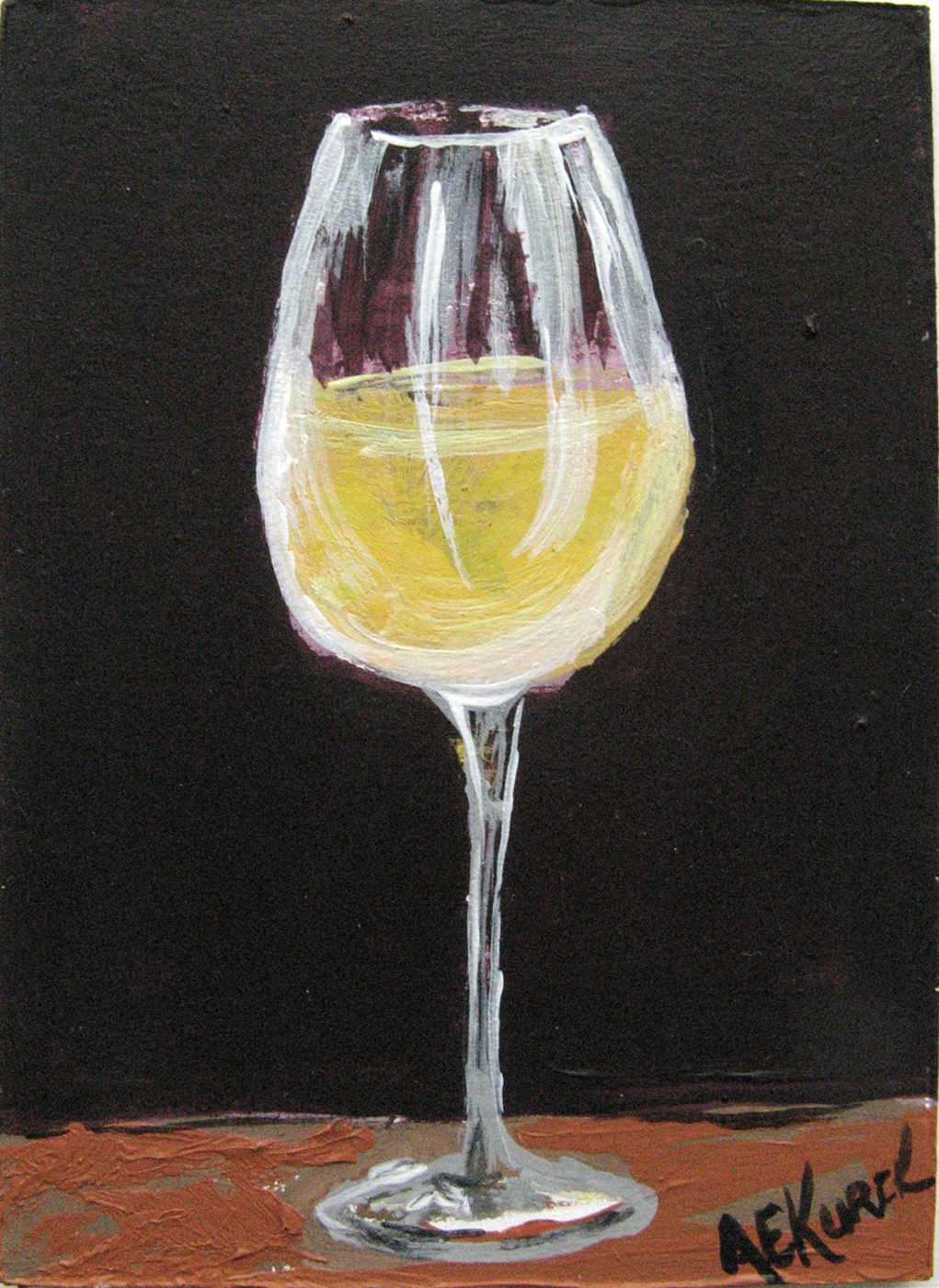 Wine painting focusing on the fine art of fun art for Paint vino
