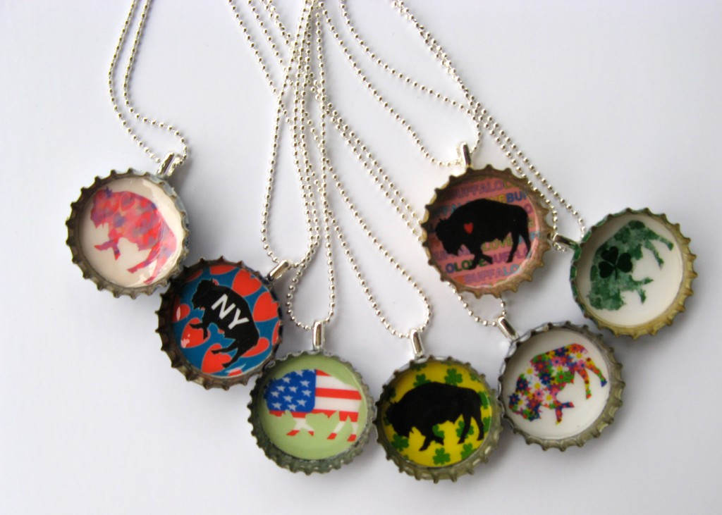 Alison_E_Kurek_Buffalo_Bottle_Cap_Pendants_Group