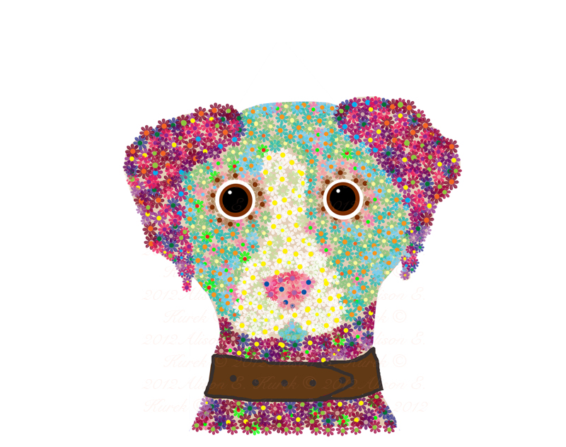 Alison_E_Kurek_Illustration_Friday_Flower_Dog