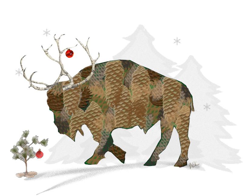 ReindeerBuffalocardORprint