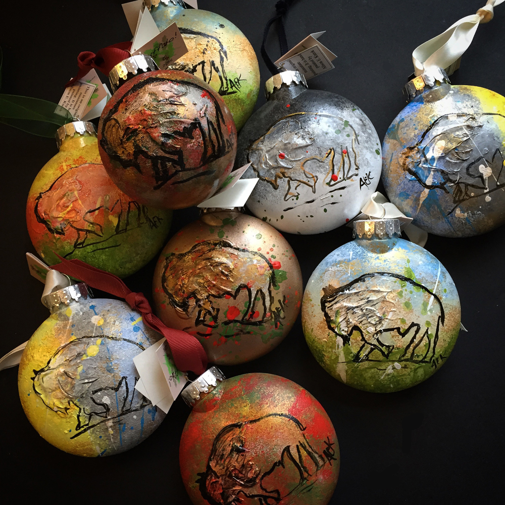 Alison_E_Kurek_Hand_Painted+Buffalo_Ornaments