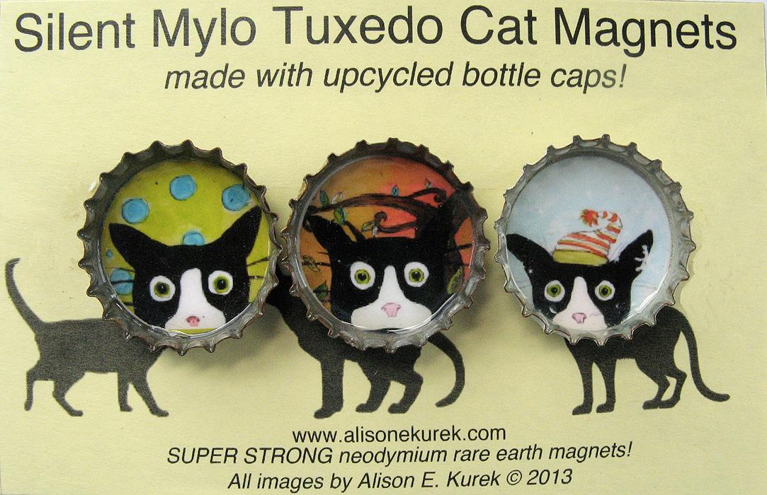 Aliso_E_Kurek_Silent_Mylo_Tuxedo_Cat_Magnets_3