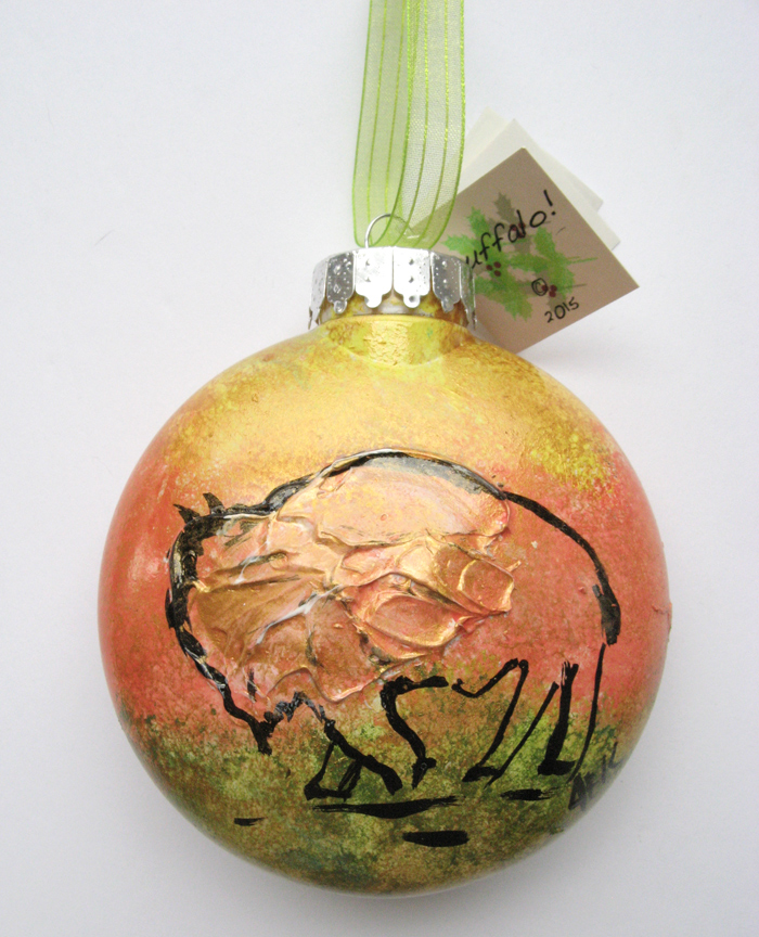 Alison_E_Kurek_Buffalo_Ornament_Sunrise_2