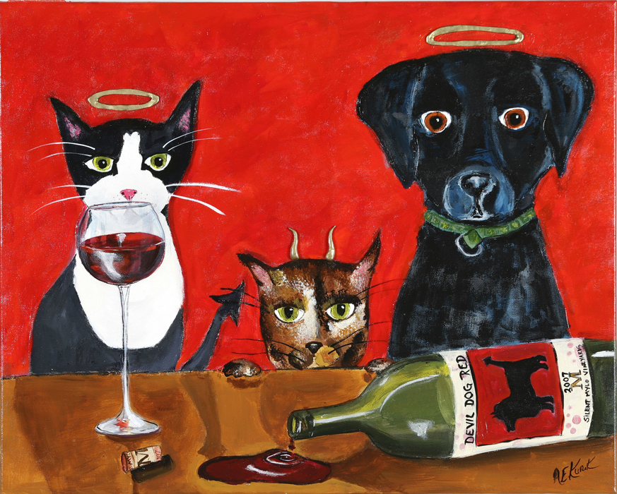 Alison_E_Kurek_Cat_and_Dog_Painting
