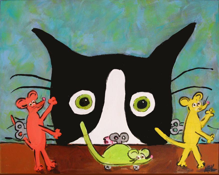 Alison_E_Kurek_Silent_Mylo_Tuxedo_Cat_Mouse_Attack