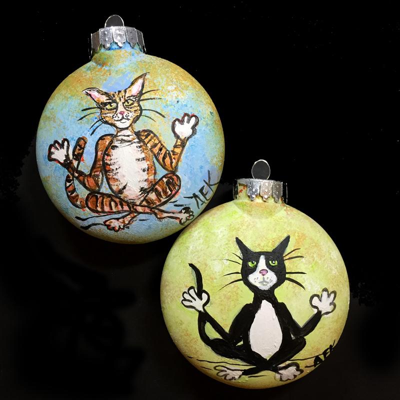 Alison_E_Kurek_Yoga_Cat_Ornament_Work_in_Progress