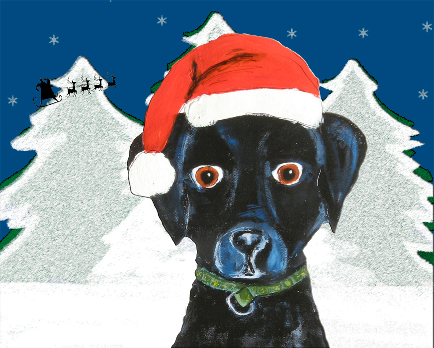 Alison_E_kurek_Black_Lab_Christms_Cards