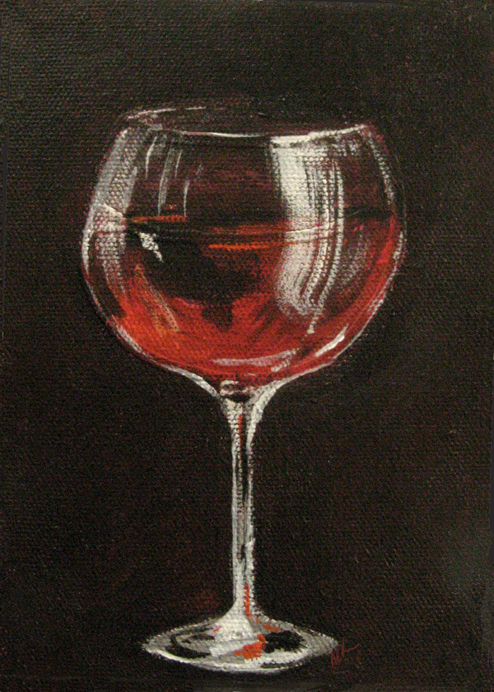 Alison_E_kurek_Red_Wine_Painting