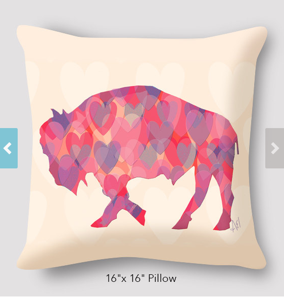 Alison_E_Kurek_Buffalo_Heart_Pillow_Inspired_Buffalo