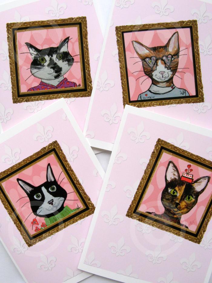 Alison_E_Kurek_Valentine_Cat_Cards_4