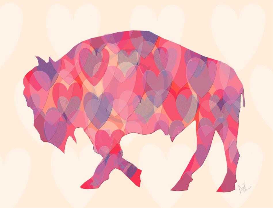 Alison_E_Kurek_Valentine's_Day_Buffalo_Heart_Buffalo